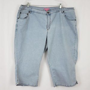 Woman Within Wide Leg Cropped Jeans Size 26W